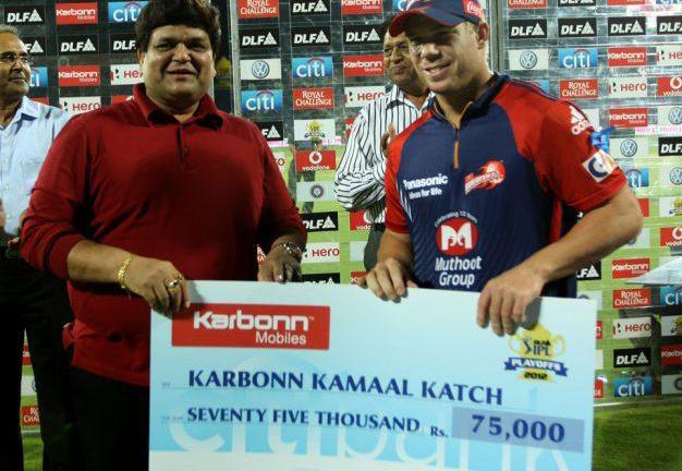 David-Warner-Karbonn-Kamaal-Katch-v-KKR