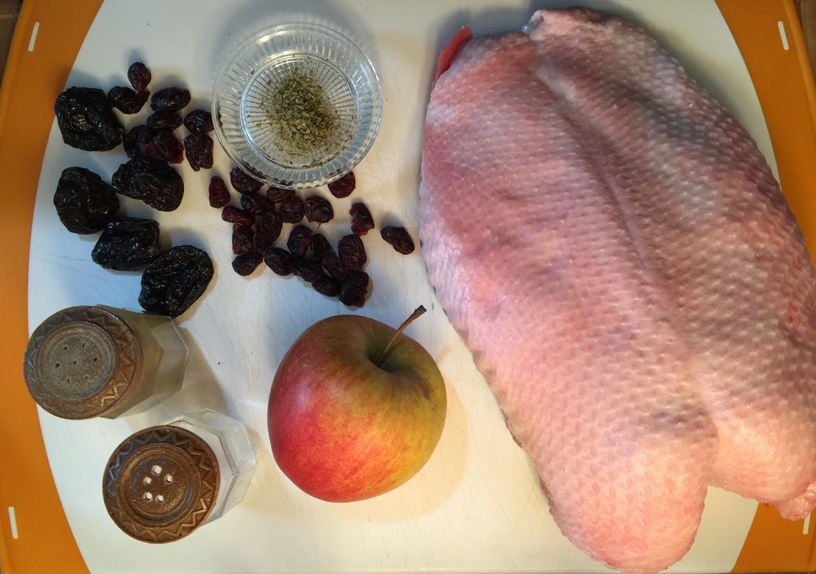 Receta de Pechuga de Ganso en salsa de Cerezas y vino
