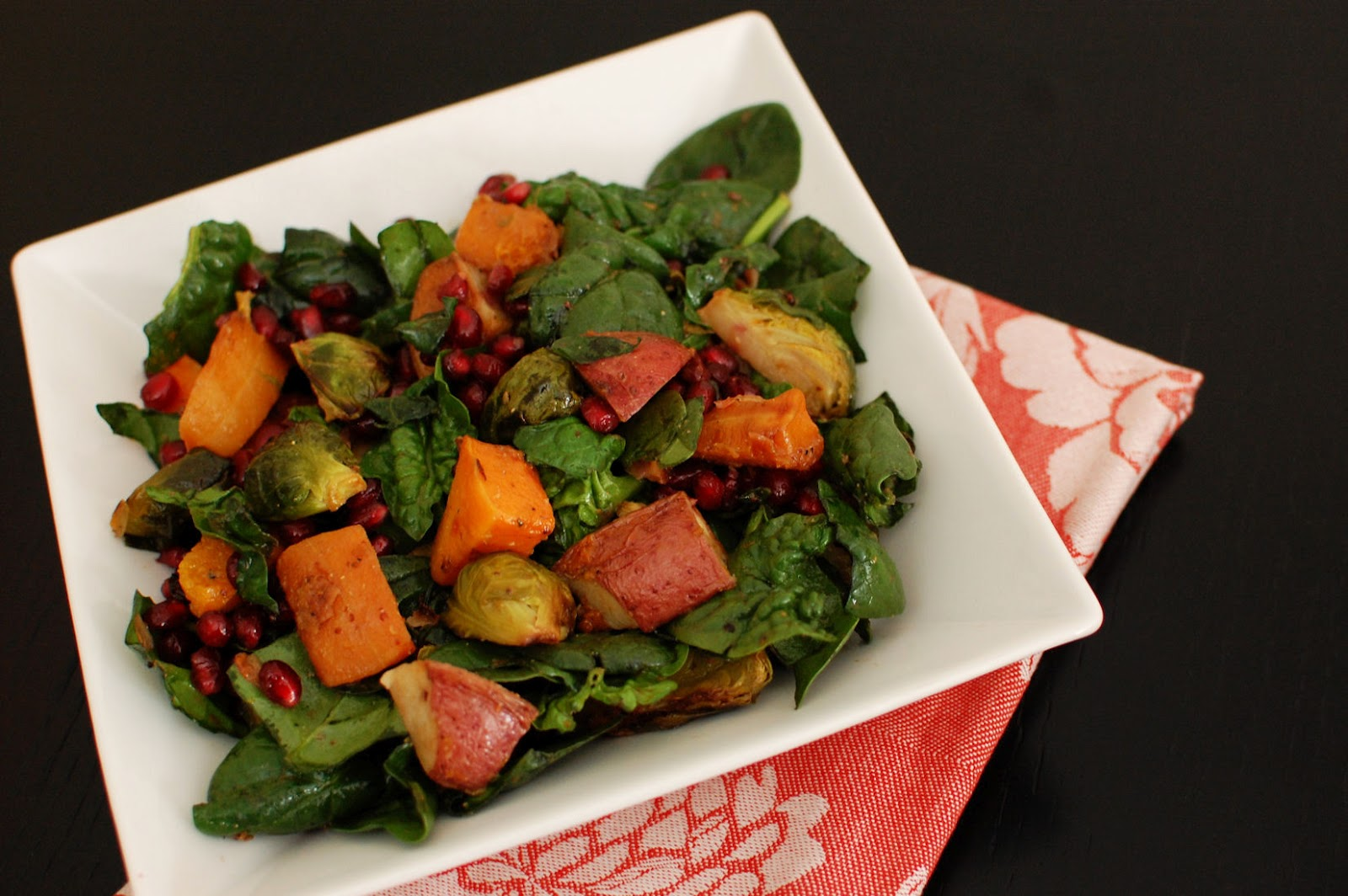 Roasted Vegetable and Spinach Salad | Beantown Baker