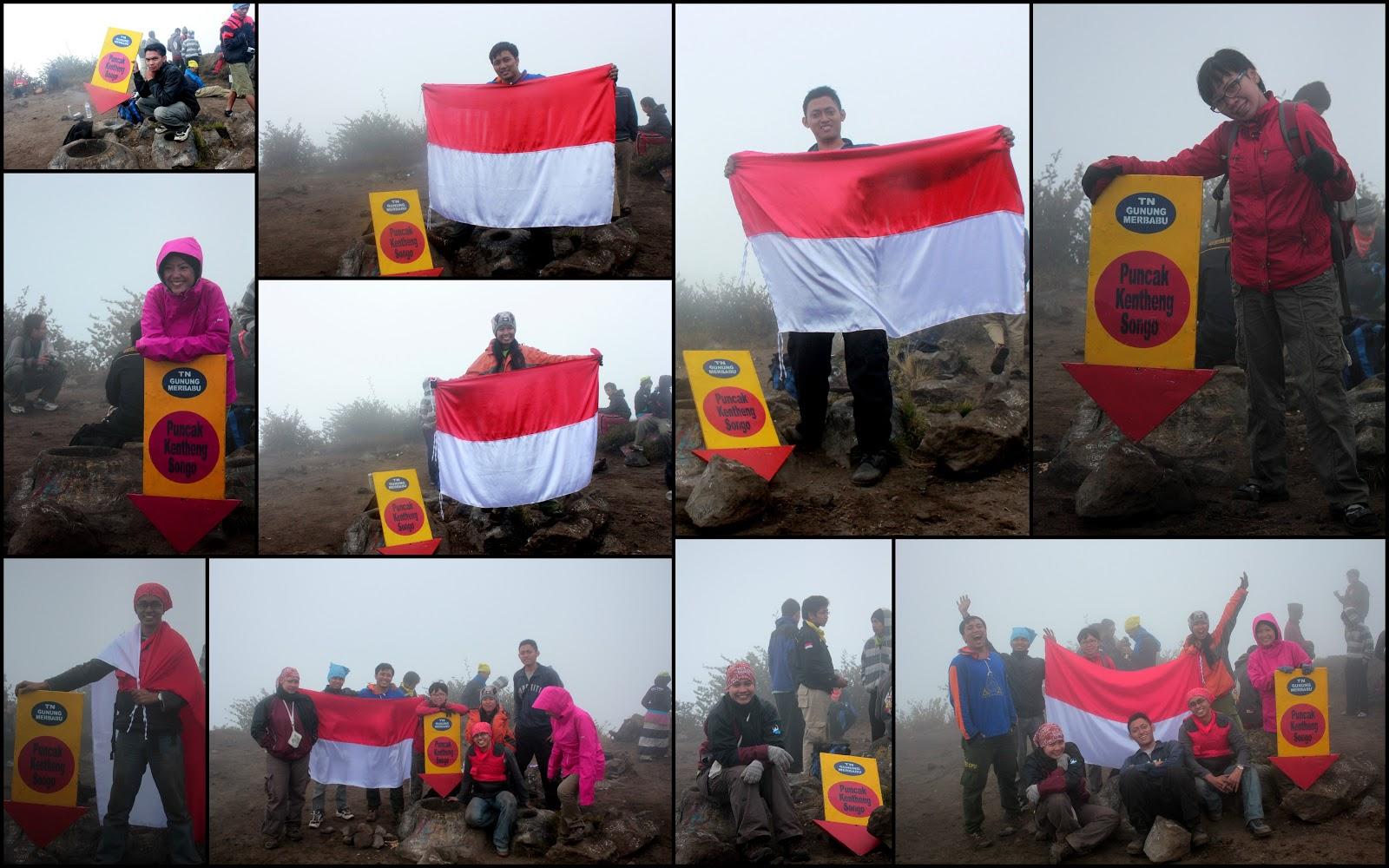 Misty Merbabu 5 8 Oktober 2012 My Journey Bendera Merah Putih Plastik Flag Palstik Menit Kemudian Semua Rombongan Udah Sampai Di Puncak Kenteng Songo Langsung Ambil Banner Pendakian Dan