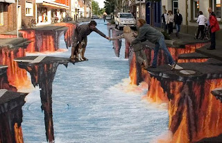 gambar gambar keren 3 Gambar Gambar Keren 3D Street Painting