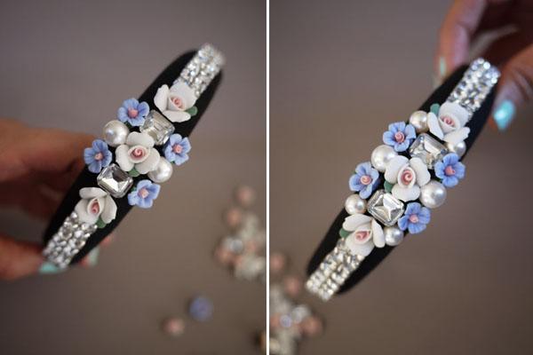 DIY: como fazer uma TIARA DECORADA! - artesanato - handmade - tutorial - penteado - cabelo