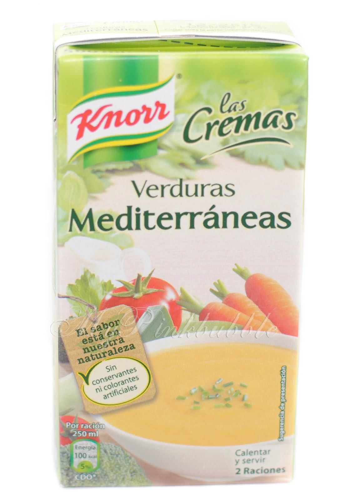 Knorr crema de verduras mediterranea