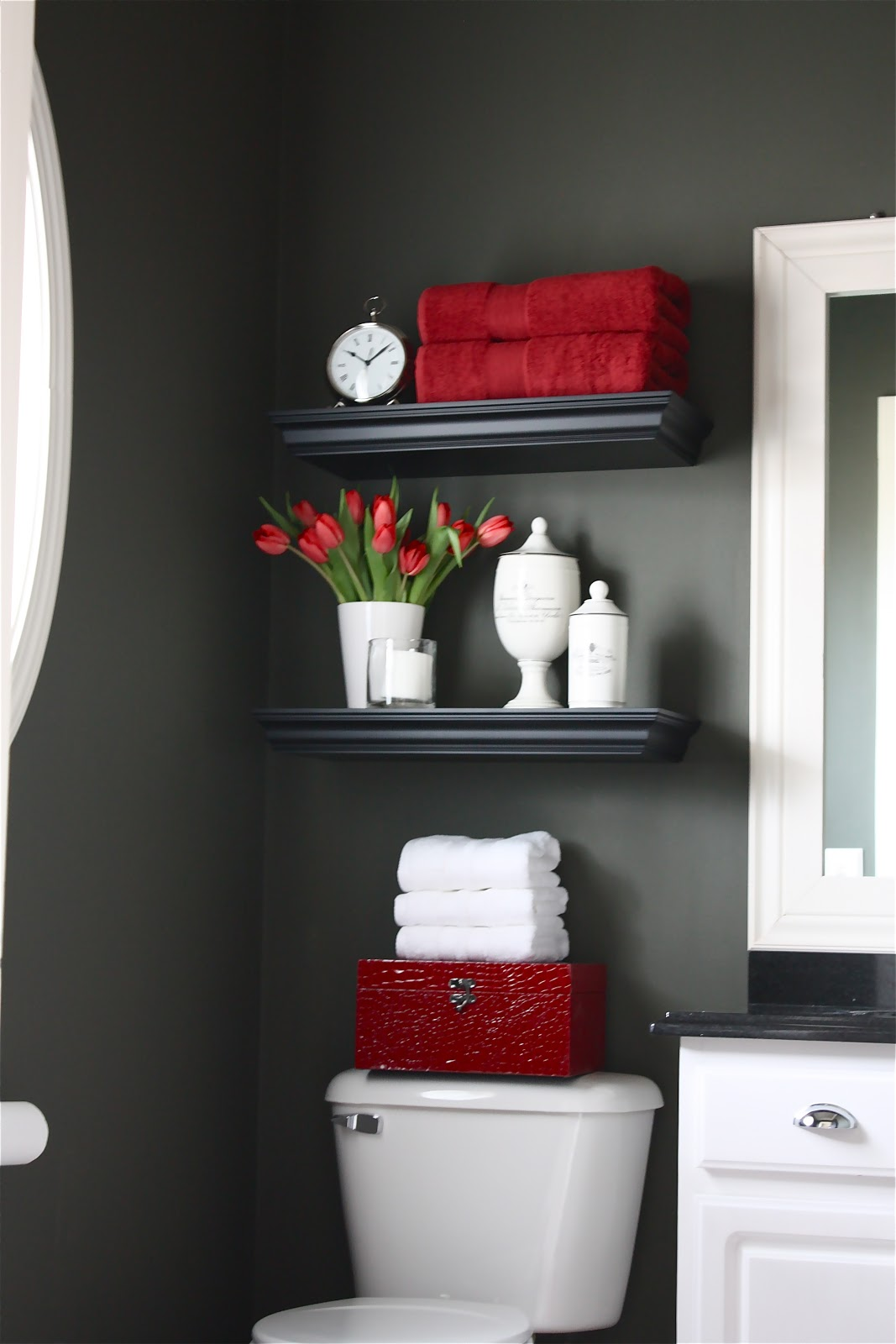 Good Using a neutral wall color allows me to change the look of my bathroom by simply switching out the accessories