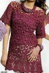 Vestido crochet con grannys