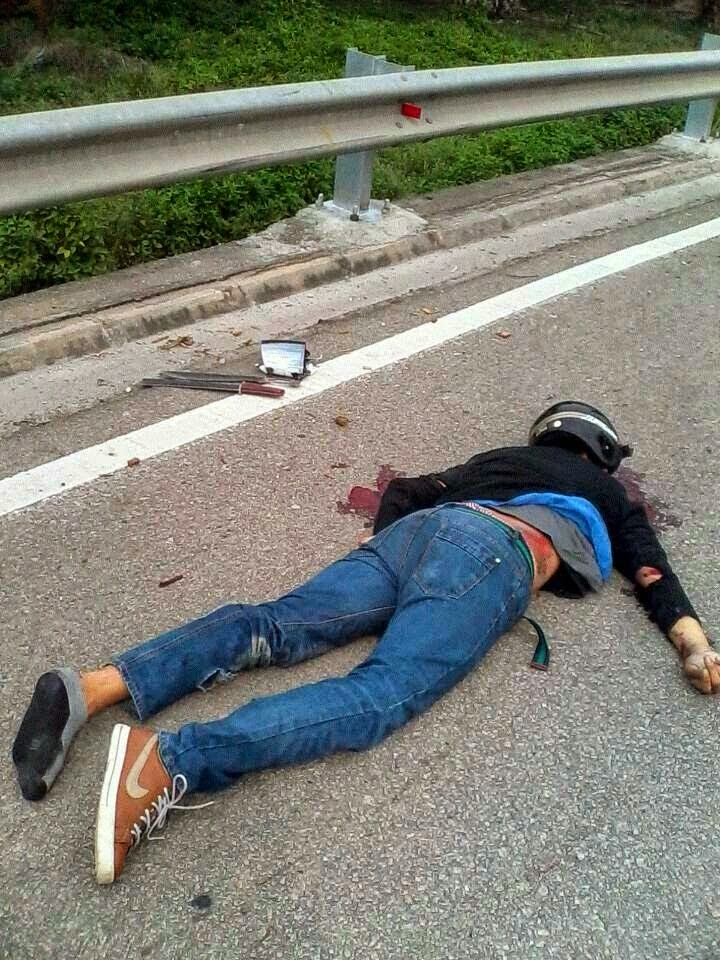Gambar ngeri perompak maut dilanggar selepas merompak di Kota ...