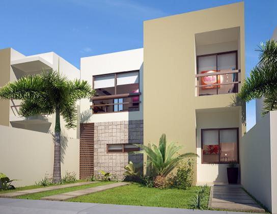 Modernas Moderna Fachada de Casa Contemporánea con jardin frontal