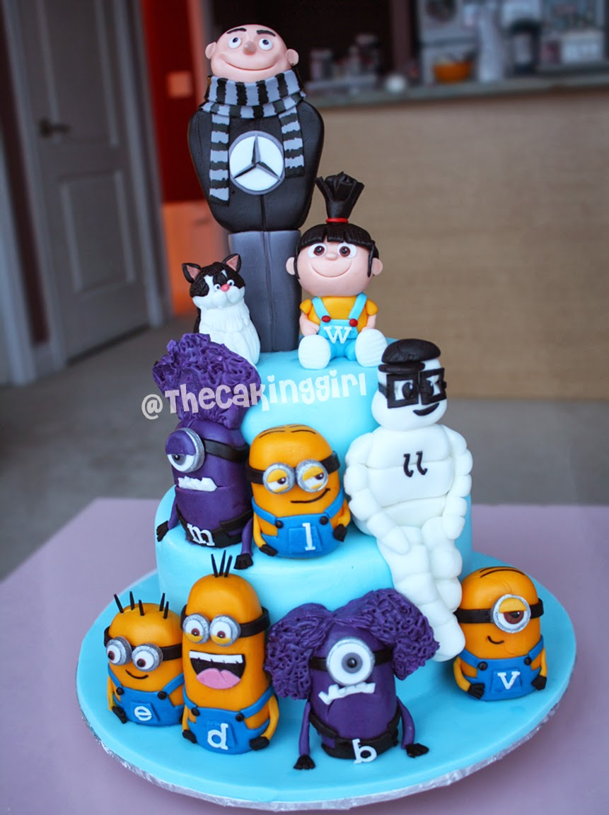 cool despicable me birthday cake