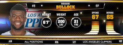 NBA 2K13 Clippers Reggie Bullock - Round 1 25th Overall