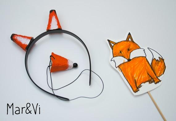 Máscaras de animales de cartón
