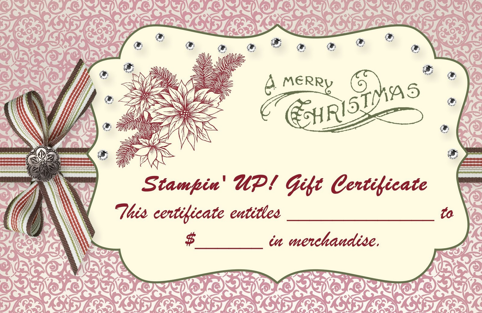 These Gift Certificates are professionally printed on 90lb cardstock ...