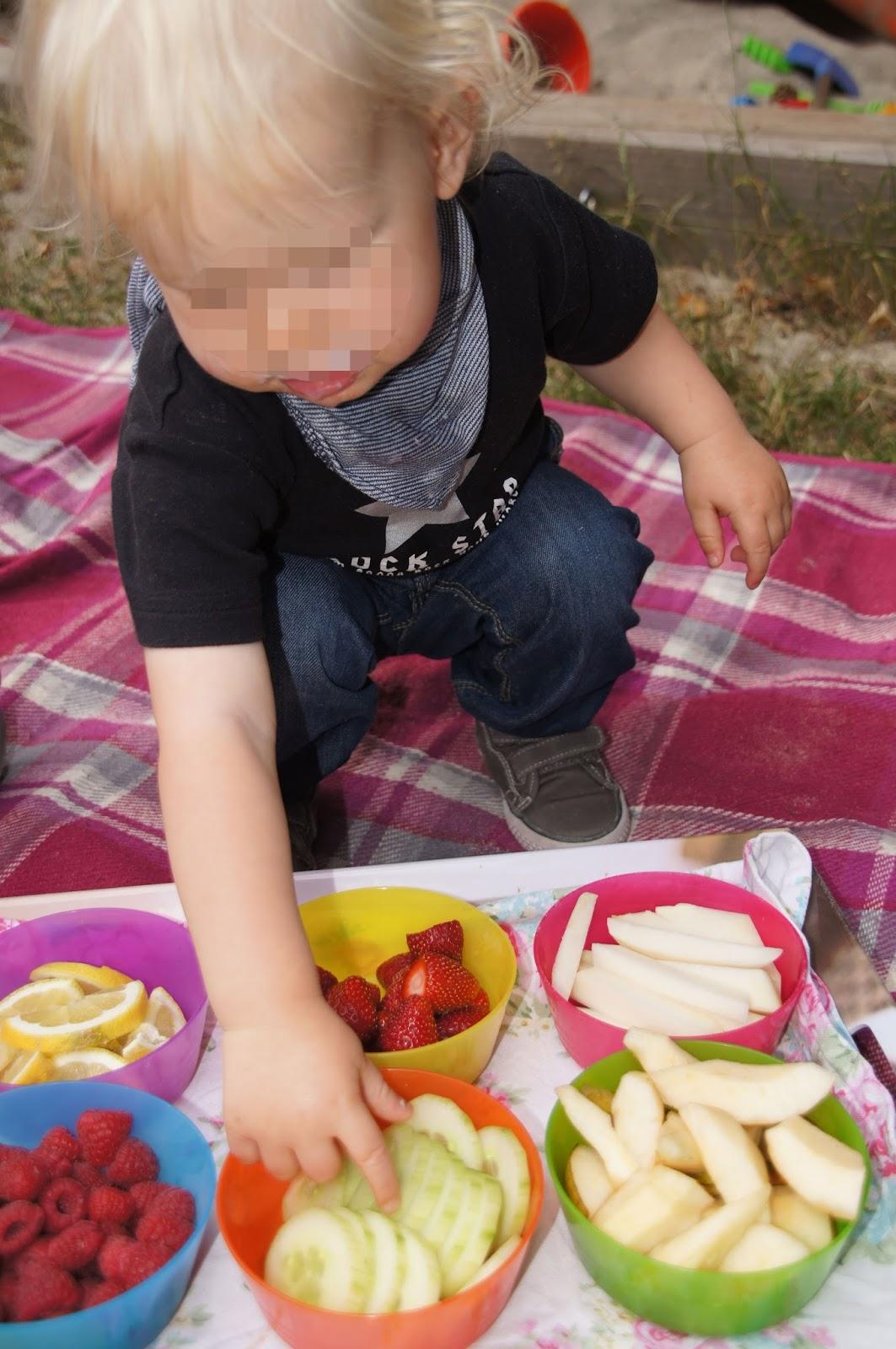 Gl cksfl gel leckerschmecker s es und saures f r den - Obst und gemuseplatte fur kindergarten ...