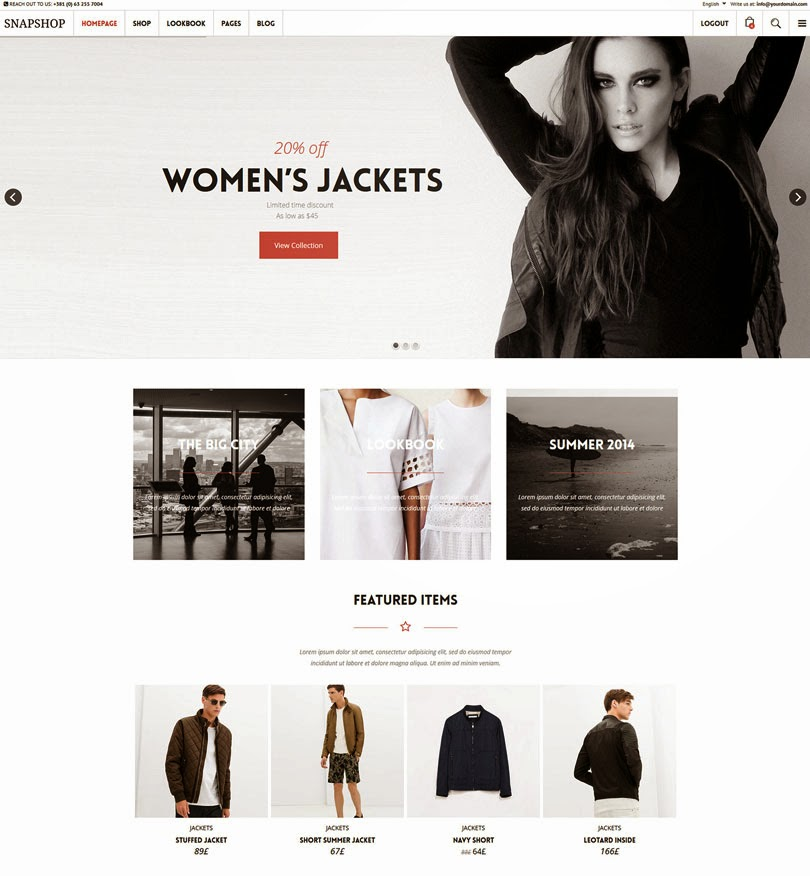 Snapshop – Responsive WooCommerce WordPress Theme