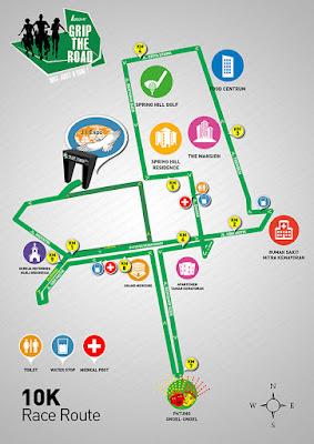 Rute League Grip The Road 2015 Jakarta, lomba lari JIExpo Flyover Kemayoran Benyamin Sueb