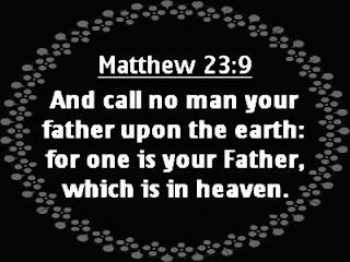 Call no man father or rabbi
