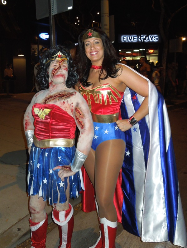 Zombie Wonder Woman costume West Hollywood Halloween