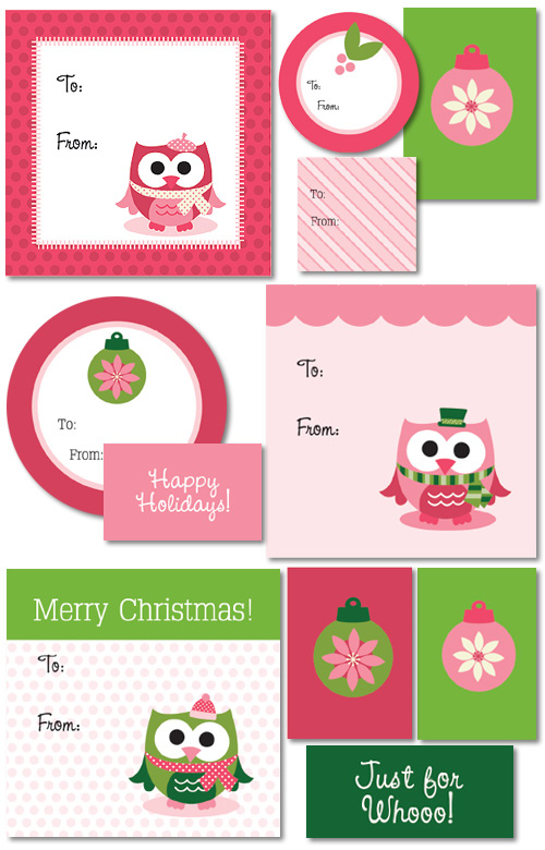 owl tags free printable