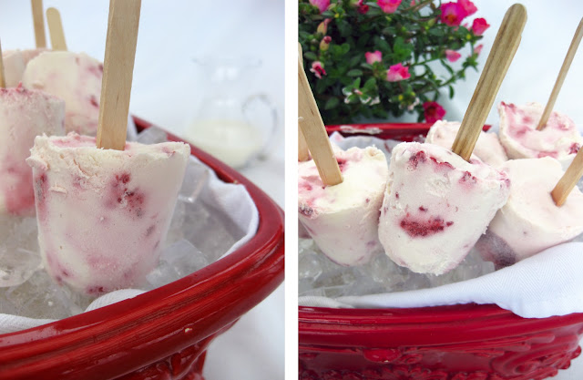 These berry pops are an easy to make dessert.