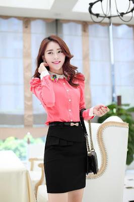 Model blouse korea lengan panjang Untuk Kerja Cantik