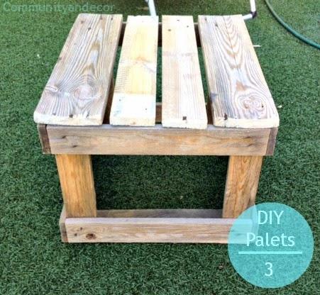 pasos para reciclar palets para crear una mesa de jardin reciclada