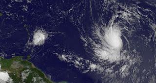 Tropischer Sturm | Hurrikan LESLIE zieht nicht in die Karibik, Leslie, aktuell, Satellitenbild Satellitenbilder, Vorhersage Forecast Prognose, August, September, 2012, Atlantische Hurrikansaison, Hurrikansaison 2012, Bermudas