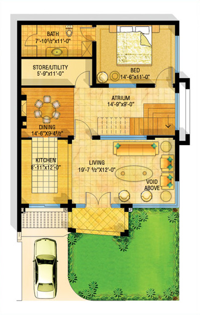 3d front bahria town lahore safari villas for Awami villas 3 map