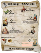 holy week treasure map. Posted by pastor pete at 7:26 AM
