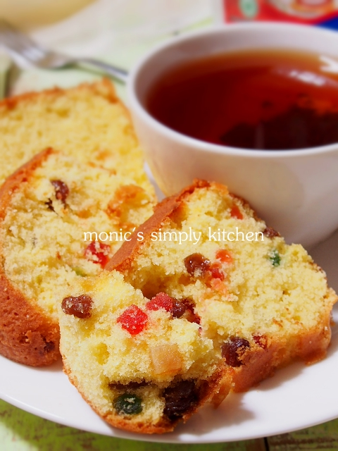 butter cake buah kering