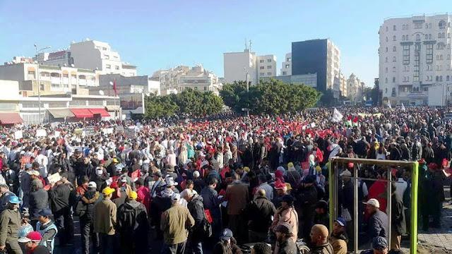 نجاح كبير للإضراب العام الوطني في قطاع الوظيفة العمومية والجماعات المحلية