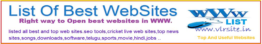 List Of Best WebSites
