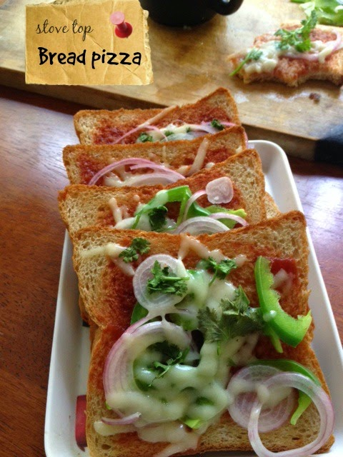stove top bread pizza