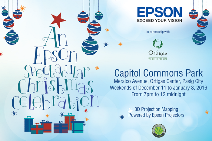 Epson Spectacular Christmas 3D Projection Mapping Show
