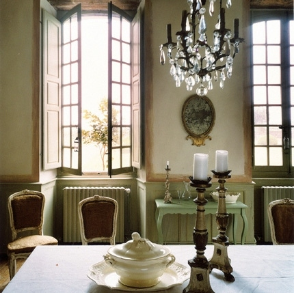 Jenny martin design windows for French chateau style decor