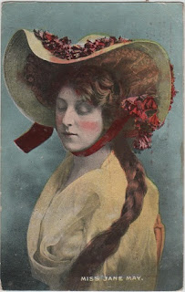 Vintage postcard of Miss Jane May