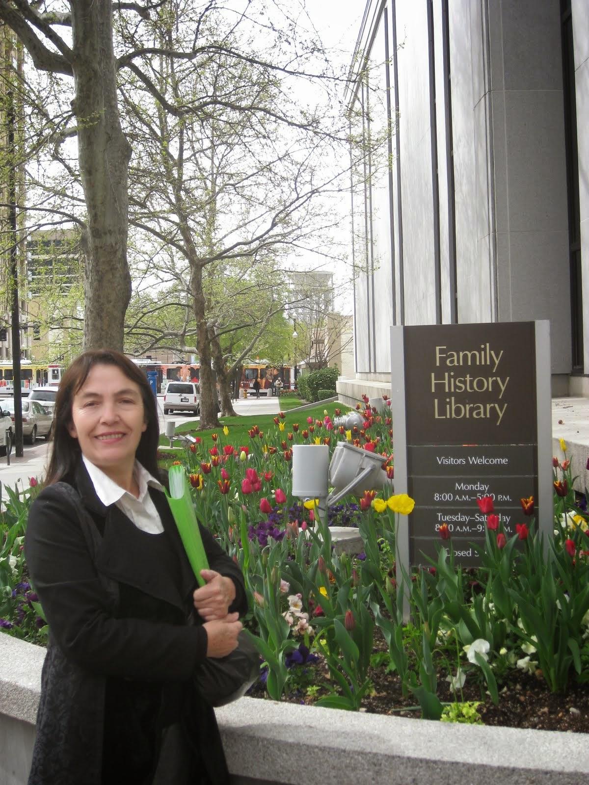Visita a la Family History Library,  año 2012