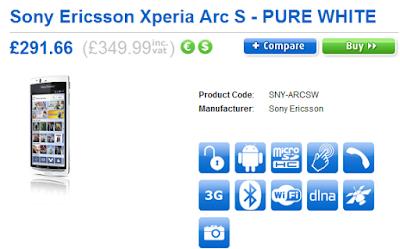 Sony ericson xperia arc S
