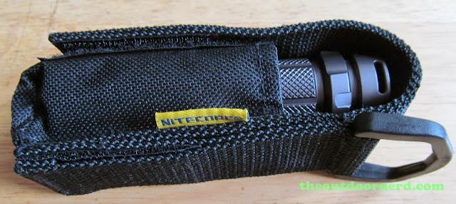Nitecore SRT3 Defender EDC Flashlight: In Holster