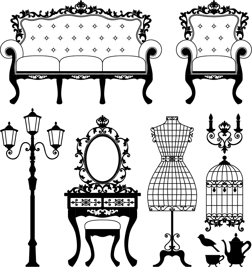 Free vector europeanstyle for Old black and white photos for sale