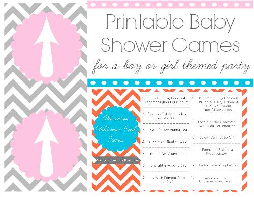 Lizalou Loves Baby Shower Game Printables