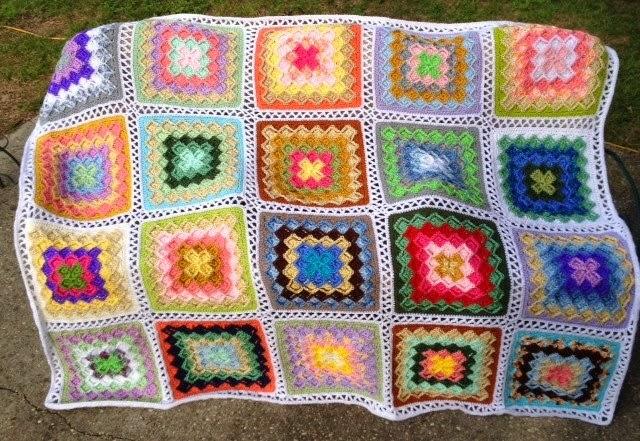 Bizzy Crochet Lush Garden Bavarian Stitch Afghan Instructions