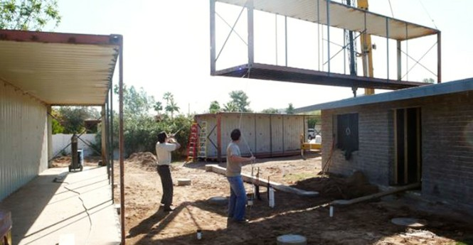 Shipping container homes upcycle living arizona - Amenagement container maison ...