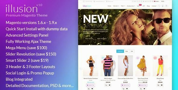 Free Multipurpose Magento Theme 2015