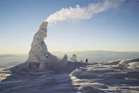 Menara Es Gunung Erebus, Antartika