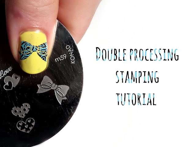 "Technika ""double processing stamping"" + kokardki"