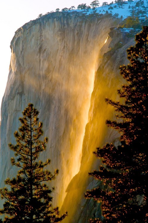 Firefall band name inspiration - Horsetail Falls Yosemite by Stan Rapada