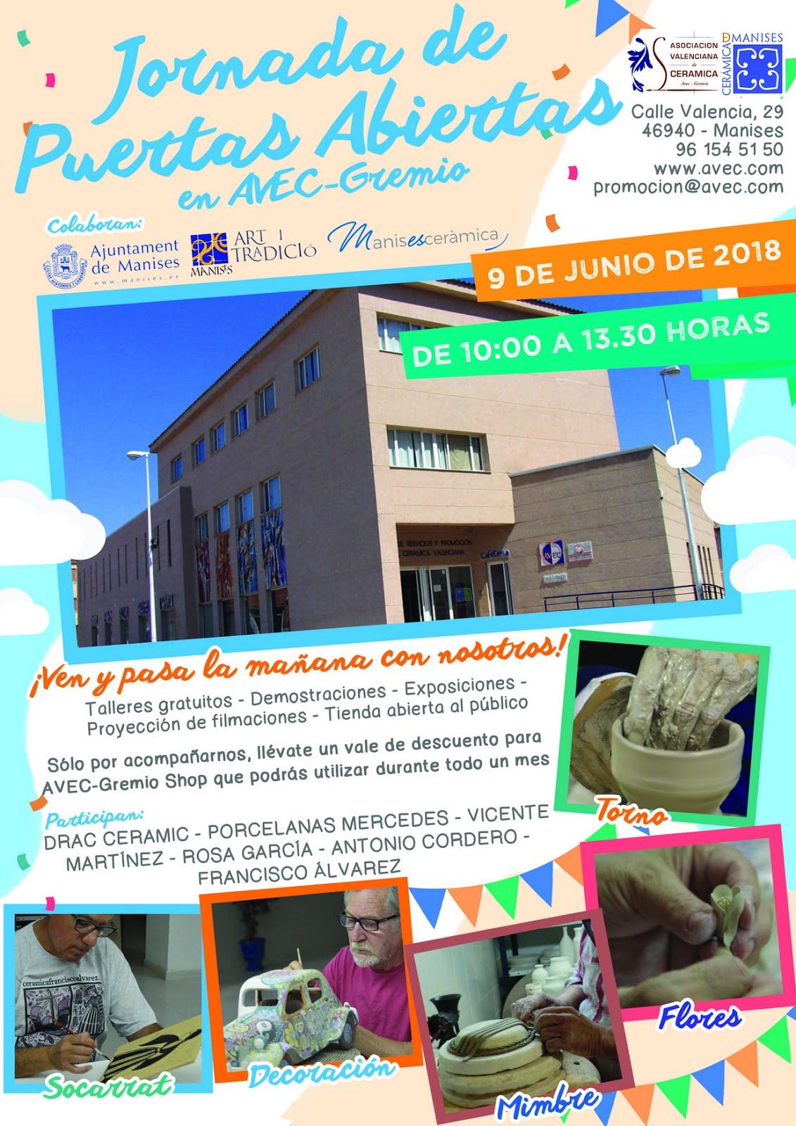 09.06.18 JORNADA DE PUERTAS ABIERTAS EN LOS DIFERENTES TALLERES DE MANISES