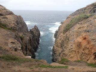 entrada de mar en la tierra