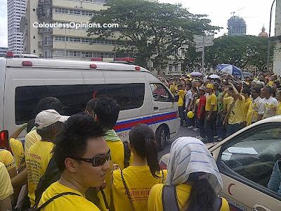 Bersih 3.0 Leboh Pasar Besar ambulance