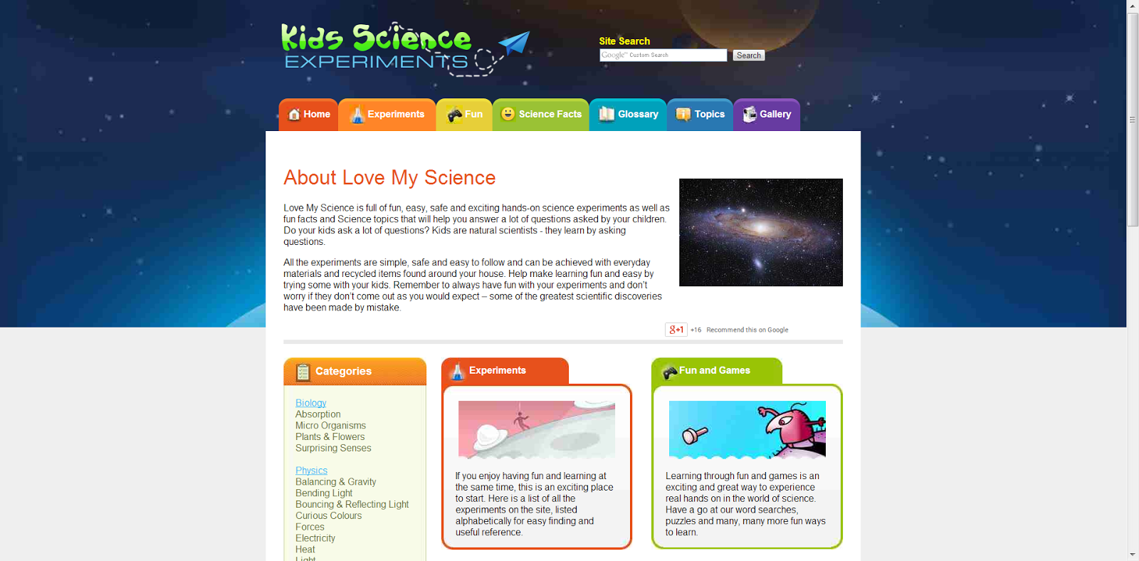 learning never stops websites that help make learning science fun there are well over one hundred experiments that cover biology chemistry and even physics the site also has fun science games and trivia for kids to
