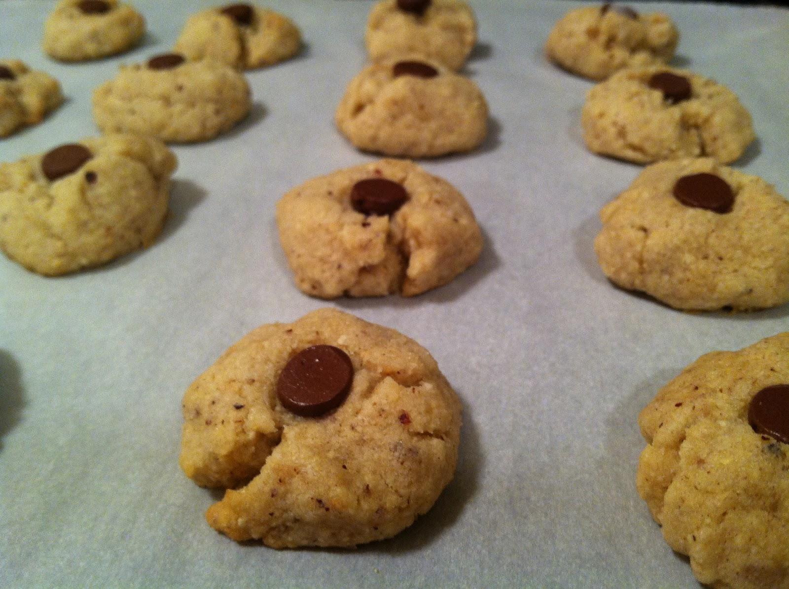 Julie Bakes: Hazelnut thumbprint cookies (kosher for Passover!)